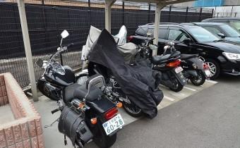 中型バイクも駐輪OK