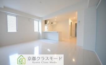 白ベースの綺麗な室内空間♪女性に人気のカウンターキッチンタイプ!