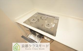 ガラストップ3口ガスコンロ(グリル付)