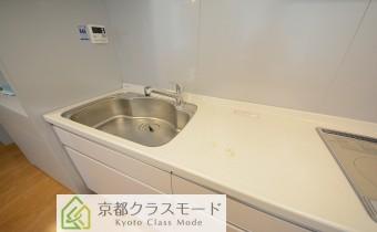 調理スペース ※室内写真は同マンション内のC号室のものです。