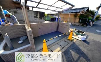 駐輪スペース(工事中時の写真です。)