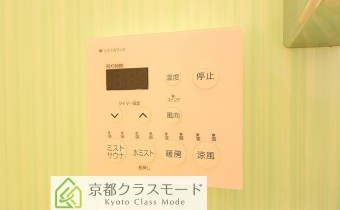 浴室コントローラー ※室内写真は208号室のものです。