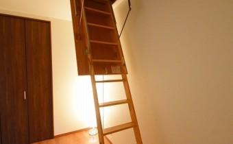 天井収納への階段