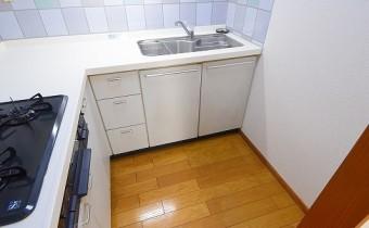 キッチンスペース ※室内写真は同マンション内の301号室のものです。