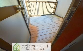 2階のバルコニー