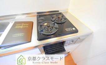 グリル付き2口ガスシステムキッチン