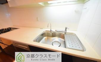 調理スペース&シンク ※室内写真は同マンション内の別タイプのものです。