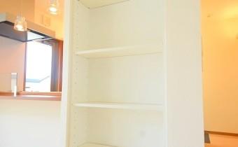 カウンター横の収納棚