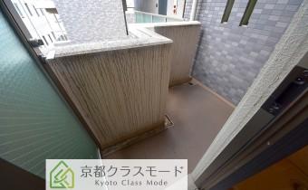 浴室側のバルコニー