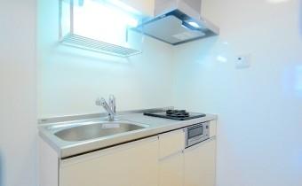 2口ガスシステムキッチン *写真はA棟201号室の参考画像です。